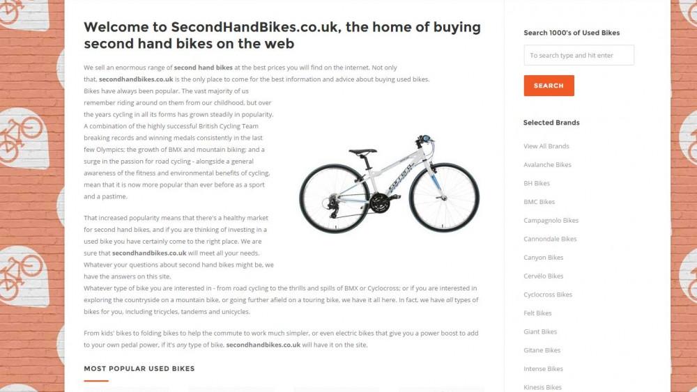 Second Hand Bikes Website
